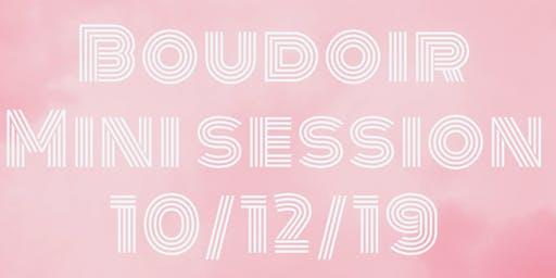 Chicago st. Boudoir mini session