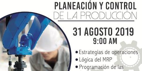 PLANEACION Y CONTROL DE LA PRODUCCIÓN Y LA CALIDAD tickets