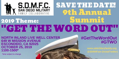 SDMFC 9th Annual Summit 2019: Get the Word Out tickets