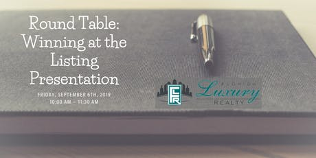 Round Table: Winning at the Listing Presentation tickets