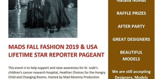 Mads Fall Fashion 2019 & USA. Lifetime star reporter pageant