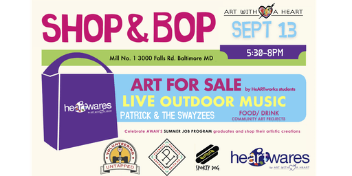 Shop & Bop at Art with a Heart