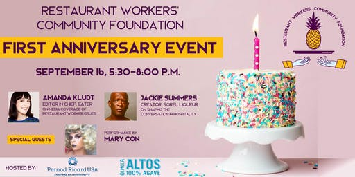 Restaurant Workers' Community Foundation First Anniversary Celebration