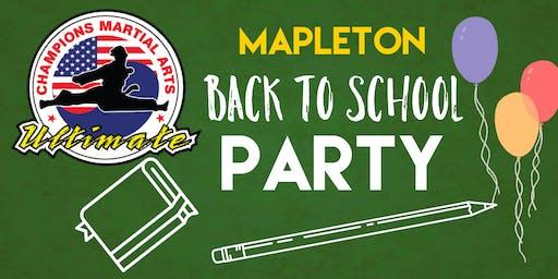 CMA Mapleton Back To School Party