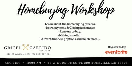 2019 Homeownership Workshop- Aug 31st tickets