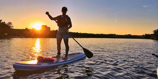 SUNSET + FULL MOON Stand Up Paddle on Windsor, NS Waterfront