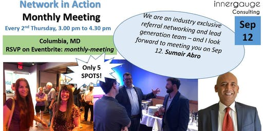 Monthly Meeting - Network in Action