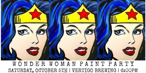 Wonder Woman Paint Party at Vertigo
