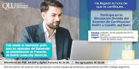 Agosto 24 - Simulación: Examen de Certificación PMI entradas