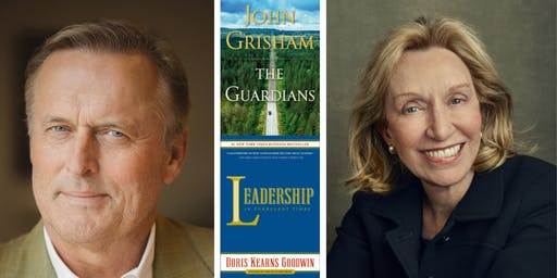 John Grisham and Doris Kearns Goodwin at Back Bay Events Center
