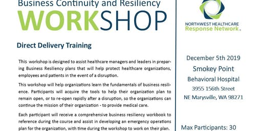 Business Continunity and Resiliency Workshop