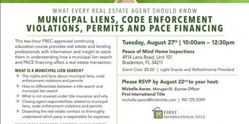 Municipal Liens,Code Enforcement,Violations, Permits and PACE Financing