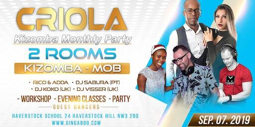 """Criola Kizomba Monthly Saturday Party """"Kizomba Mob"""" Rico & Adda"""