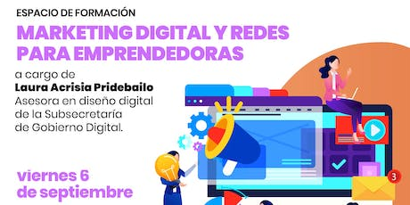 CAPACITACIÓN EN MARKETING DIGITAL Y REDES PARA EMPRENDEDORAS  entradas