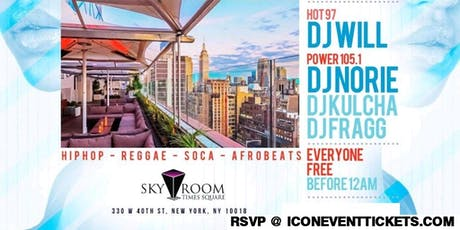 Sky Room Rooftop Labor Day Sunday Power 105.1 Invasion tickets