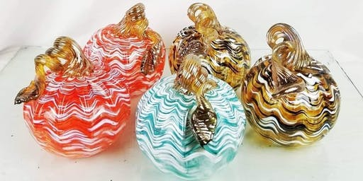 CREATE-YOUR-OWN Blown Glass Festive Pumpkin