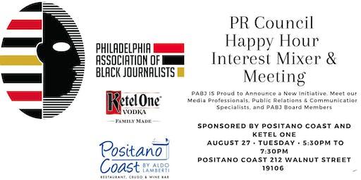 PABJ presents: PR Council Happy Hour Mixer & Meeting