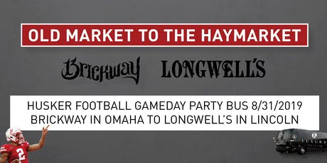 Husker Football Gameday Party Bus 8/31/19 tickets