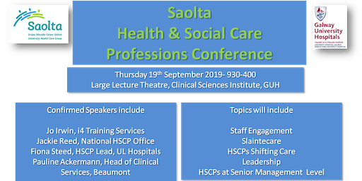 Saolta Health & Social Care Professions Conference 2019
