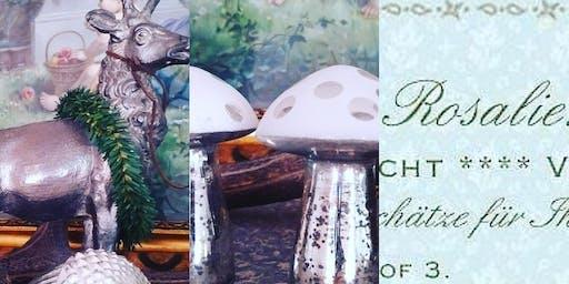 Shabby Vintage Antik Kitzingen kleines, feines Herbst Arrangement byROS