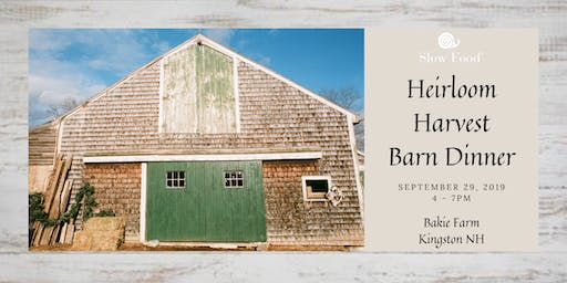 Heirloom Harvest Barn Dinner