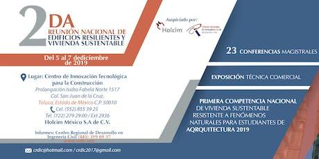 2da Reunión Nacional de Edificios Resilientes y Vivienda Sustentable entradas