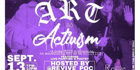 """REVIVE Radio presents """"ART AS ACTIVISM"""" for ART ALL NIGHT  DC KICKOFF tickets"""