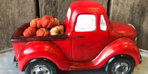 Ceramic Little Red Truck - Fall Edition