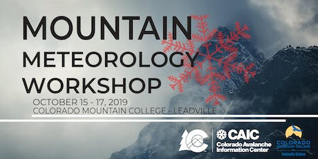 Mountain Meteorology Workshop tickets