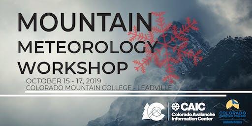 Mountain Meteorology Workshop