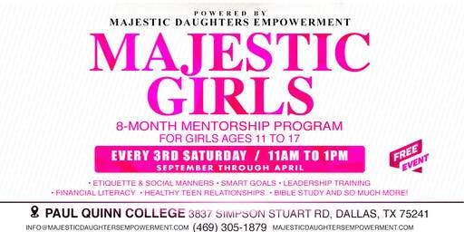 Majestic Girls Teen Mentorship Program (Ages 11 to 17)