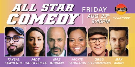 Jackie Fabulous, Maz Jobrani, and more -Special Event: All-Star Comedy tickets