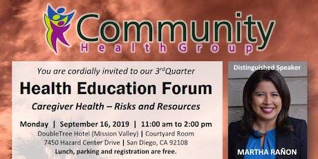 2019 3rd Quarter Health Education Forum tickets