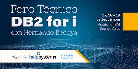 Foro Técnico Db2 for i con Hernando Bedoya entradas