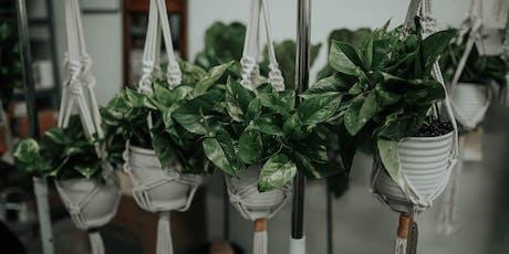 Macrame Plant Hanger Workshop at Grounded tickets