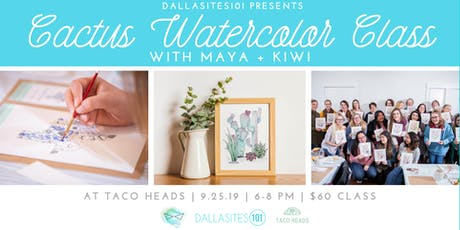 Cactus Watercolor Class tickets
