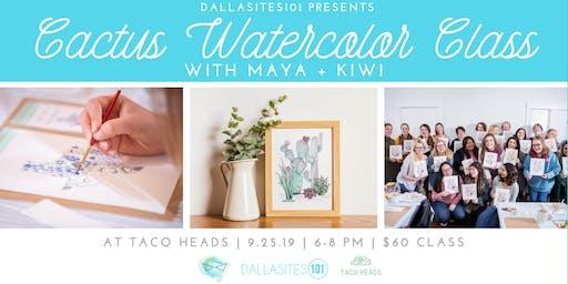 Cactus Watercolor Class