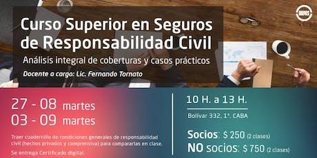 CURSO SUPERIOR EN SEGUROS DE RESPONSABILIDAD CIVIL entradas
