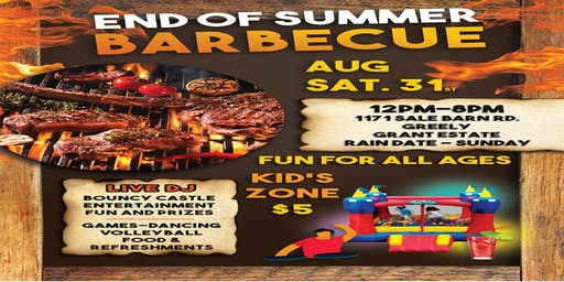 END OF SUMMER BARBECUE (Free Entry)