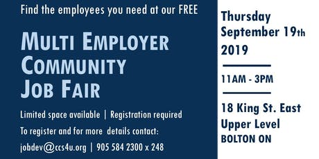 FREE : Multi-Employer Job Fair tickets