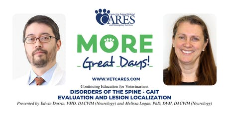 Veterinarian Continuing Education: Disorders of the Spine - Gait Evaluation and Lesion Localization tickets