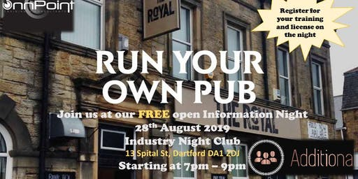 Want to be a pub landlord or lady, free information night