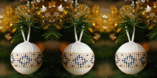 Bead Knitted Bauble with Fiona Morris
