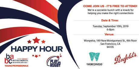 BABC Young Professionals Happy Hour! (Co-Hosted with Community Partner Play Rugby USA)  - 10th September 2019 tickets