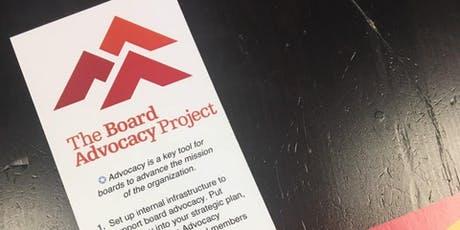 Nonprofit Board Advocacy Training tickets
