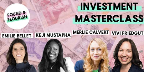 Investment Masterclass:  Money, fundraising and financial wellbeing | London tickets