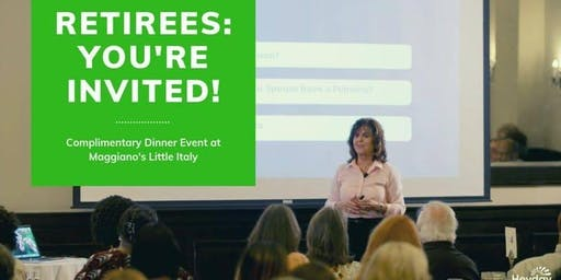 Dinner Event- Income & Retirement: Should You Go Back to Work?