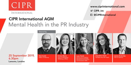 CIPR International AGM – Mental Health in the PR Industry tickets