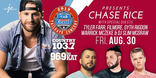 Chase Rice Live in Concert | Belk College Kickoff Concert