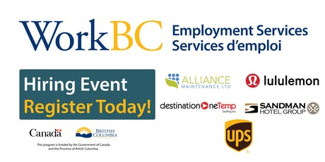 Vancouver WorkBC - Careers in Health/Homecare/Hotel/Warehouse Job Fair tickets